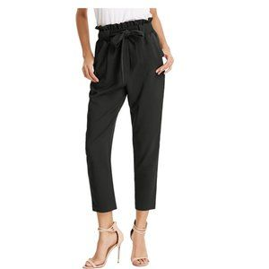 NWT GRACE KARIN Cropped Paper Bag Waist Pants